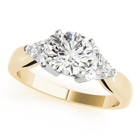 14kt Yellow Gold Side-Stone Engagement Ring