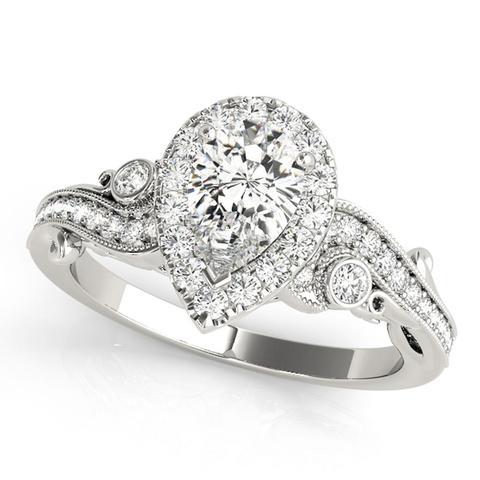 14kt White Gold Multi Stone Diamond Engagement Ring