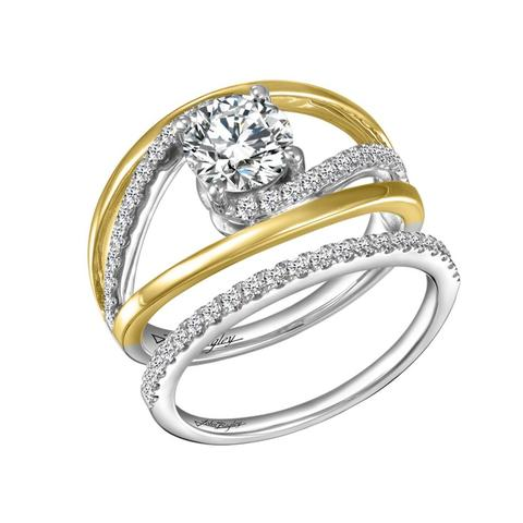 Multi Stone 14k gold Wedding Set with 47 diamonds
