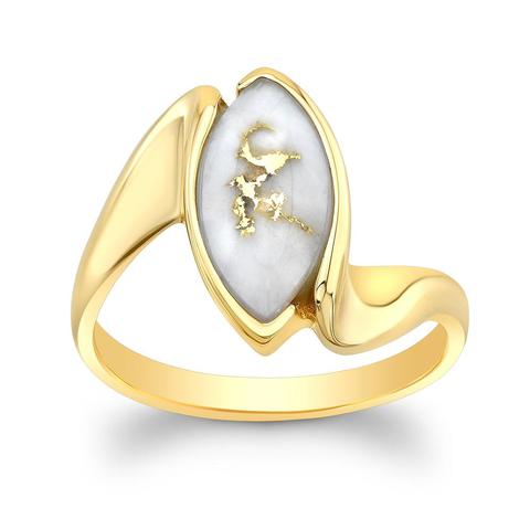 Quartz and Yellow Gold Ring