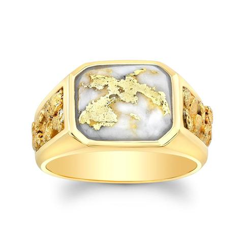 Yellow Gold and Quartz Ring