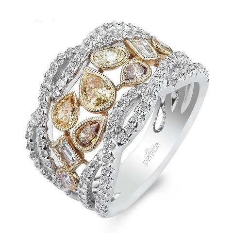 14kt White Gold Diamond Right Hand Ring