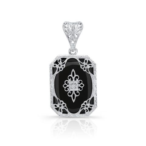 White Gold Gemstone pendant