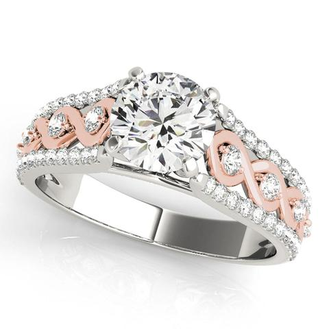 14K Multi Row Engagement Ring