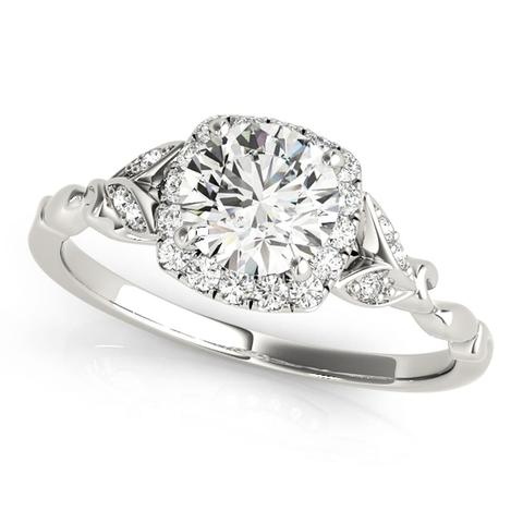 Classic 14K Gold 3/4 Ct Diamond Engagement Ring