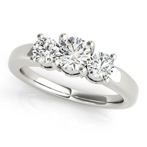 3-Stone 3/4 Ct Round Brilliant Diamond Engagement Ring