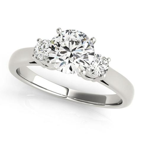 3-Stone 1/8 Ct Round Brilliant Diamond Engagement Ring