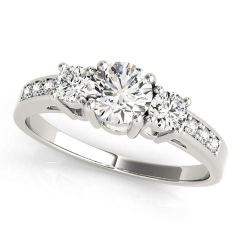 3-Stone 7/8 Ct. Diamond Engagement Ring
