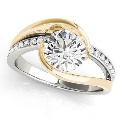 3/4 Ct ByPass Diamond Engagement Ring