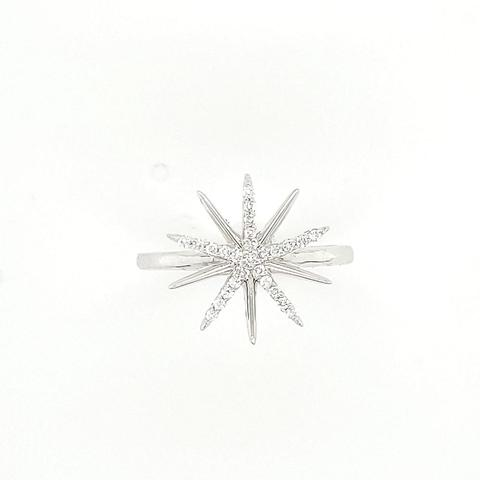 14K white gold with diamonds ring